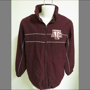 Sz L Texas A&M Aggies Mens Zip Up Poly #253 Jacket